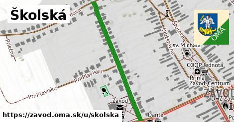 ilustrácia k Školská, Závod - 575m