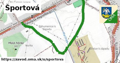 ilustrácia k Športová, Závod - 1,48km
