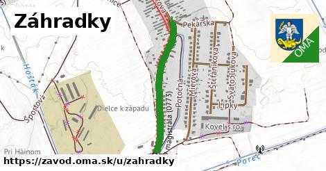 ilustrácia k Záhradky, Závod - 617m