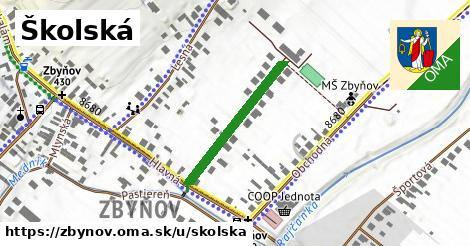 ilustrácia k Školská, Zbyňov - 248m