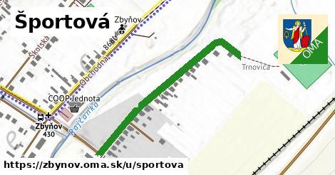 ilustrácia k Športová, Zbyňov - 420m