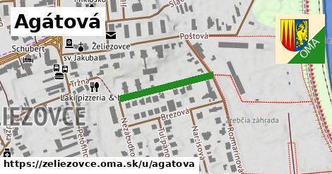 ilustrácia k Agátová, Želiezovce - 215m