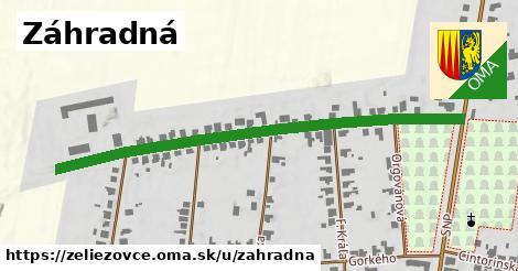 ilustrácia k Záhradná, Želiezovce - 600m