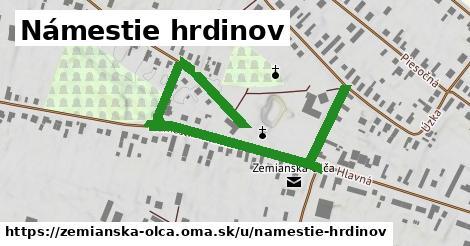 ilustrácia k Námestie hrdinov, Zemianska Olča - 672m