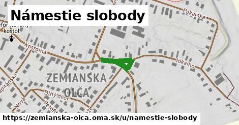 ilustrácia k Námestie slobody, Zemianska Olča - 177m