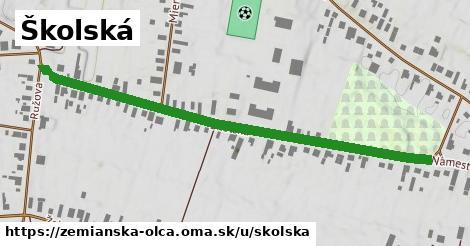 ilustrácia k Školská, Zemianska Olča - 658m