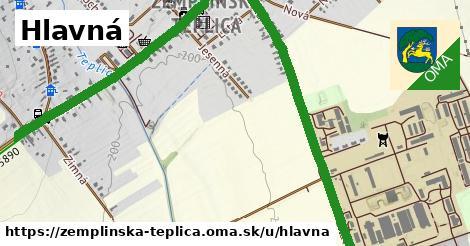 ilustračný obrázok k Hlavná, Zemplínska Teplica