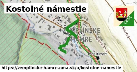ilustrácia k Kostolné námestie, Zemplínske Hámre - 254m