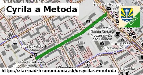 ilustrácia k Cyrila a Metoda, Žiar nad Hronom - 437m