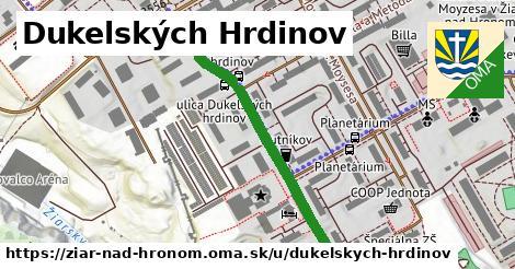 ilustračný obrázok k Dukelských Hrdinov, Žiar nad Hronom