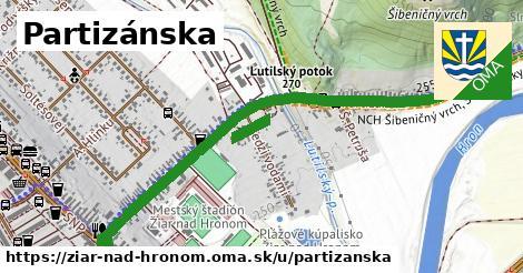 ilustrácia k Partizánska, Žiar nad Hronom - 1,31km