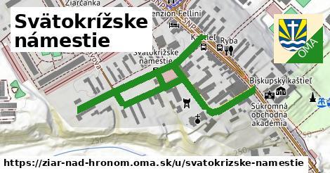 ilustračný obrázok k Svätokrížske námestie, Žiar nad Hronom