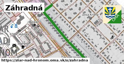 ilustračný obrázok k Záhradná, Žiar nad Hronom