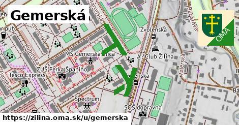 ilustrácia k Gemerská, Žilina - 331m