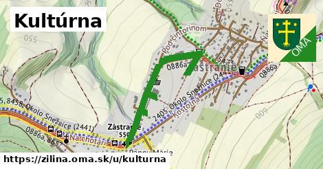 ilustrácia k Kultúrna, Žilina - 599m