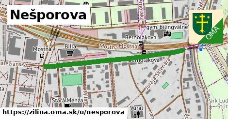 ilustrácia k Nešporova, Žilina - 458m
