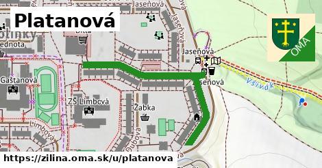 ilustrácia k Platanová, Žilina - 458m