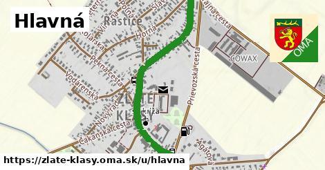ilustrácia k Hlavná, Zlaté Klasy - 1,11km