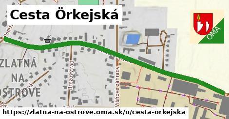 ilustrácia k Cesta Örkejská, Zlatná na Ostrove - 0,76km