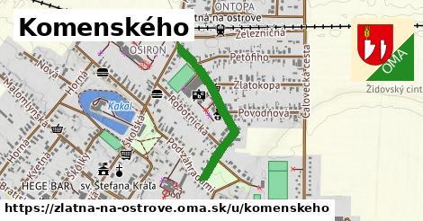 ilustrácia k Komenského, Zlatná na Ostrove - 577m