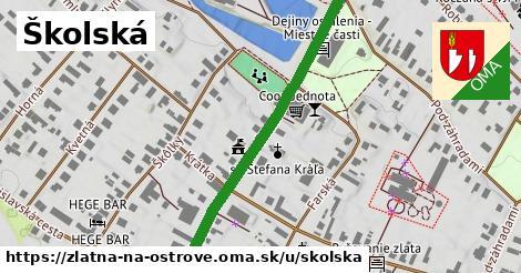 ilustrácia k Školská, Zlatná na Ostrove - 484m
