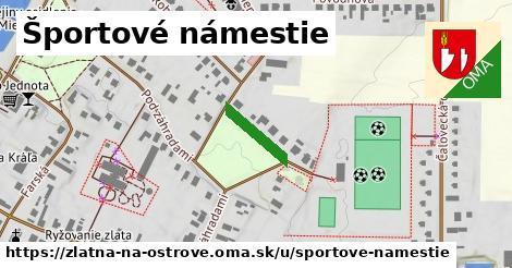 ilustrácia k Športové námestie, Zlatná na Ostrove - 121m