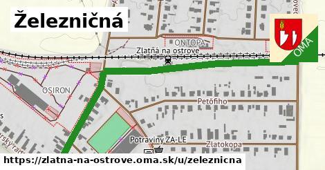 ilustrácia k Železničná, Zlatná na Ostrove - 0,73km