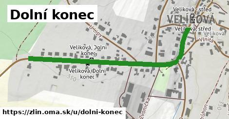 ilustrácia k Dolní konec, Zlín - 594m