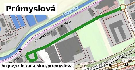 ilustrácia k Průmyslová, Zlín - 186m