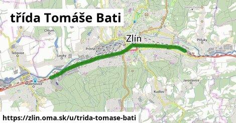 ilustrácia k třída Tomáše Bati, Zlín - 8,8km