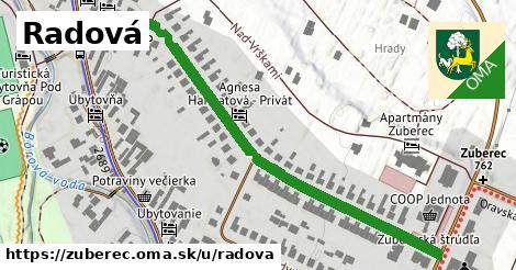ilustrácia k Radová, Zuberec - 653m