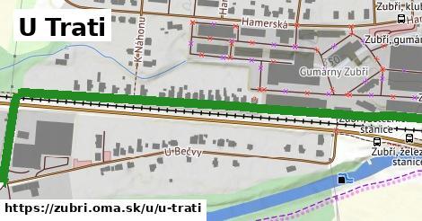 ilustrácia k U Trati, Zubří - 0,93km