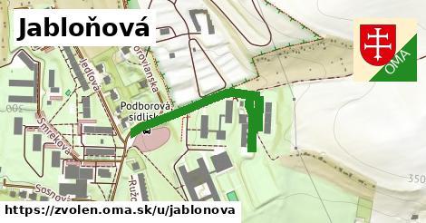 ilustrácia k Jabloňová, Zvolen - 296m