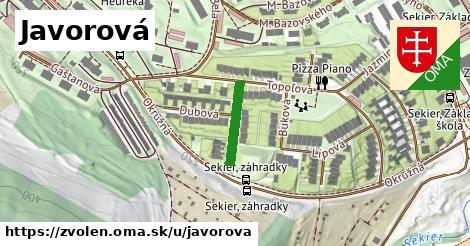 ilustrácia k Javorová, Zvolen - 134m