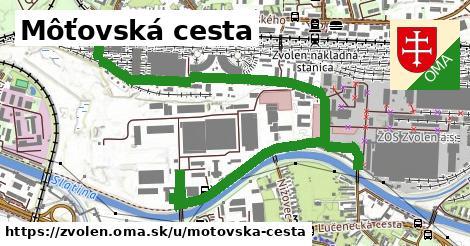ilustračný obrázok k Môťovská cesta, Zvolen