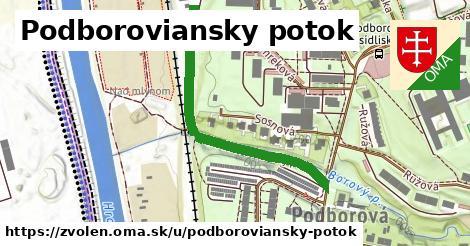 ilustračný obrázok k Podboroviansky potok, Zvolen