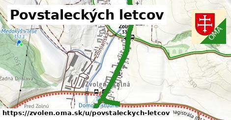 ilustrácia k Povstaleckých letcov, Zvolen - 1,53km