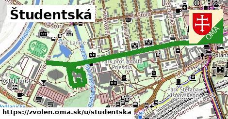 ilustrácia k Študentská, Zvolen - 1,53km
