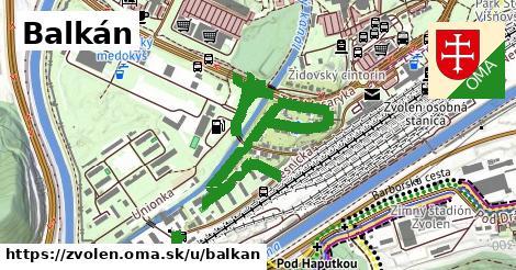Balkán, Zvolen