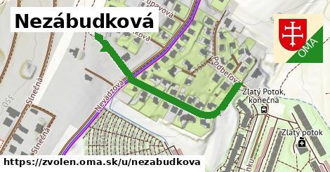 ilustrácia k Nezábudková, Zvolen - 429m
