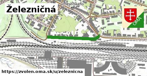 ilustrácia k Železničná, Zvolen - 276m