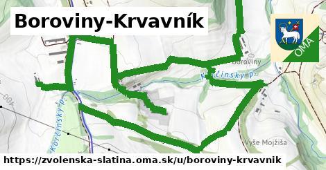 ilustrácia k Boroviny-Krvavník, Zvolenská Slatina - 3,4km