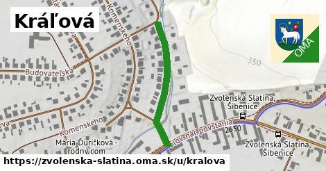 ilustrácia k Kráľová, Zvolenská Slatina - 296m