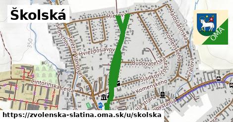 Školská, Zvolenská Slatina