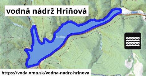 ilustračný obrázok k vodná nádrž Hriňová