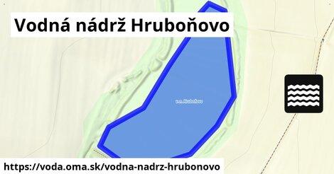 ilustračný obrázok k Vodná nádrž Hruboňovo