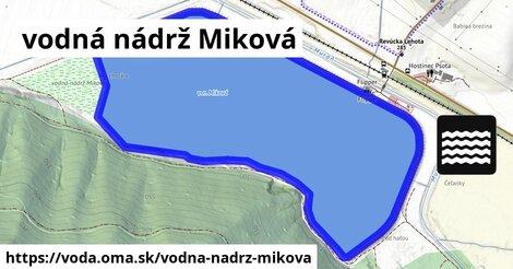ilustračný obrázok k vodná nádrž Miková
