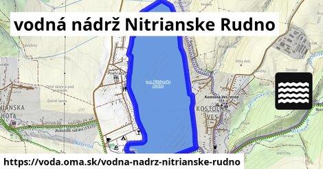 ilustračný obrázok k Vodná nádrž Nitrianske Rudno