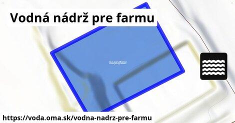ilustračný obrázok k Vodná nádrž pre farmu