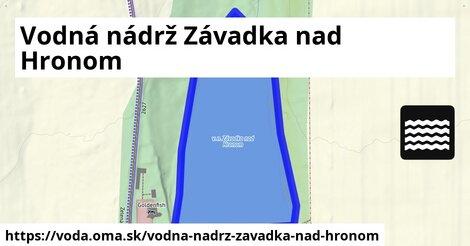 ilustračný obrázok k Vodná nádrž Závadka nad Hronom